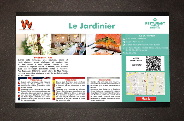 Design support tourisme