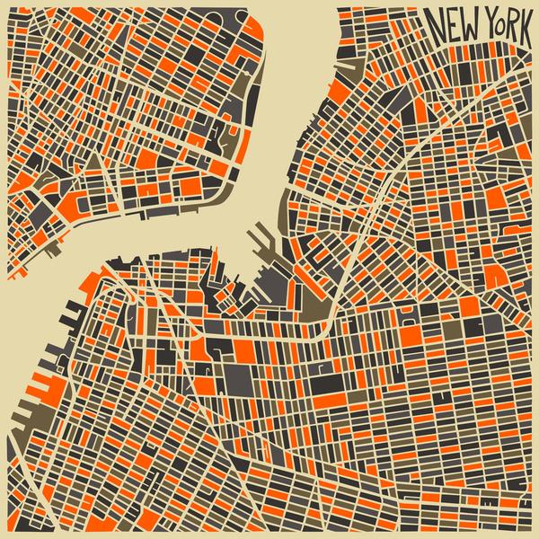 Cartes graphiques New York