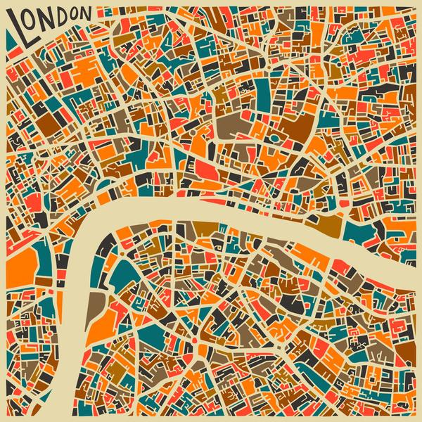 Cartes graphiques Londres