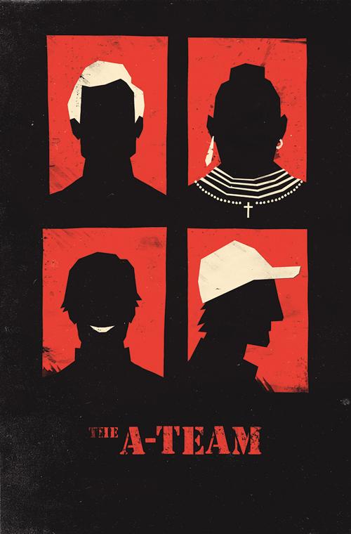 The A Team par Olly Moss