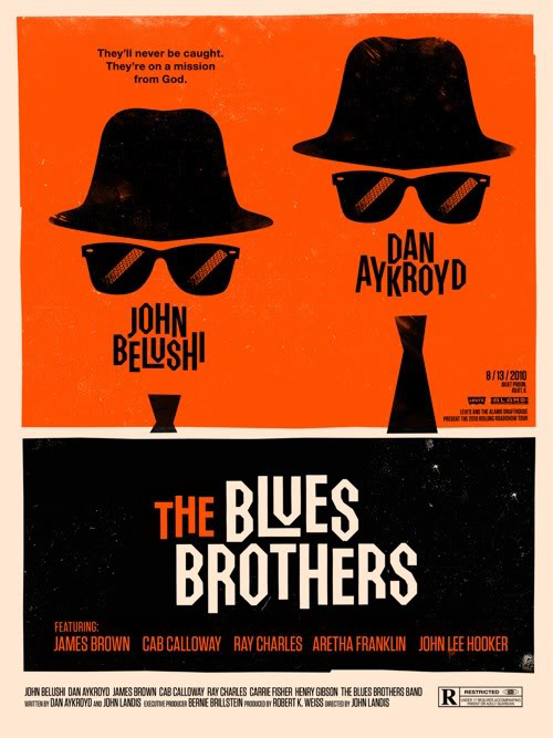 The Blues Brothers par Olly Moss