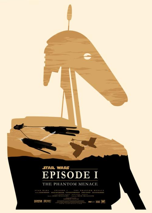 Star Wars Episode 1 par Olly Moss