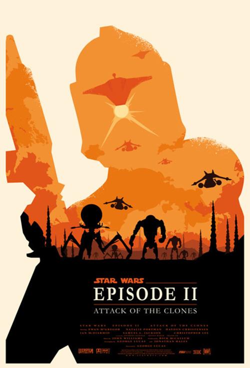 Star Wars Episode 2 par Olly Moss