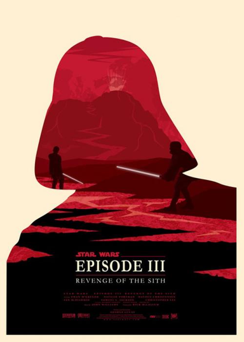 Star Wars Episode 3 par Olly Moss