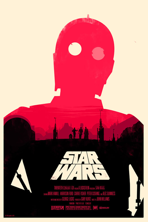 Star Wars Episode 4 par Olly Moss