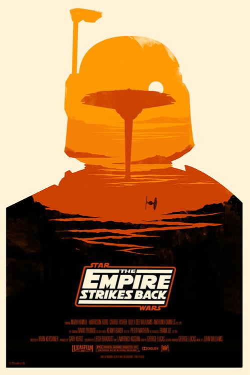 Star Wars Episode 5 par Olly Moss