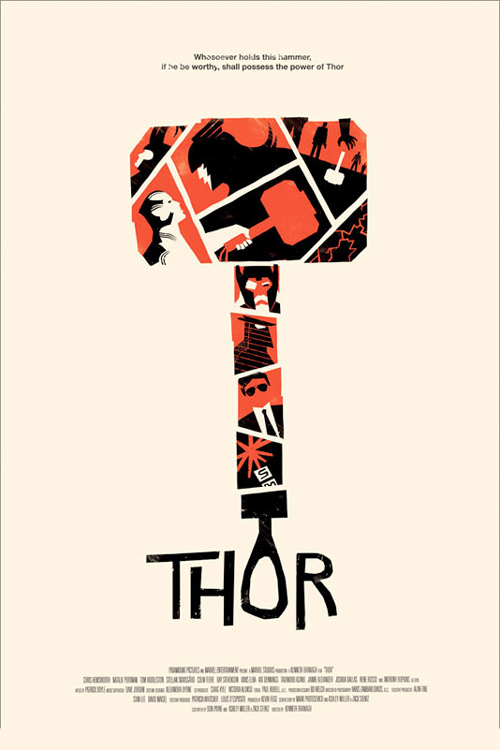 Thor by Olly Moss