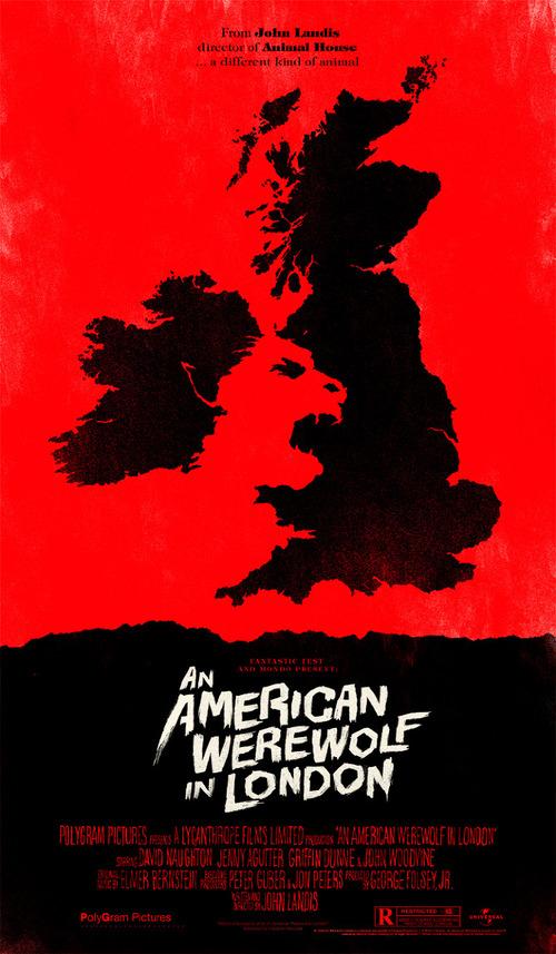 An American Werewolf in London by Olly Moss