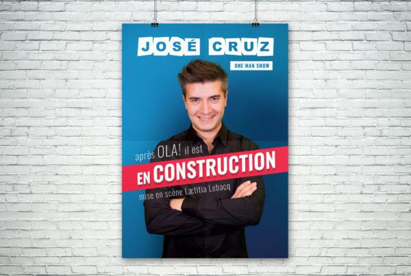 Affiche du spectacle En construction de José Cruz