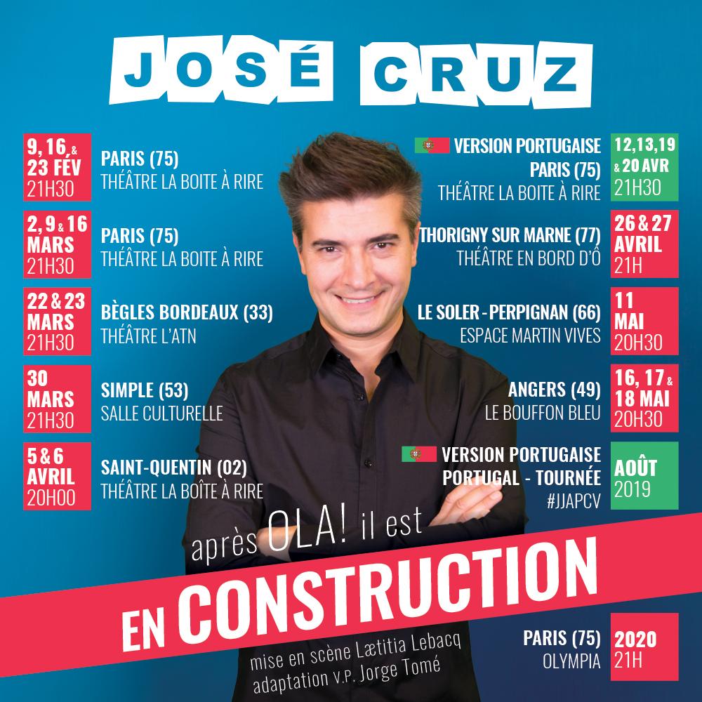 Visuel du spectacle En construction de José Cruz pour Instagram