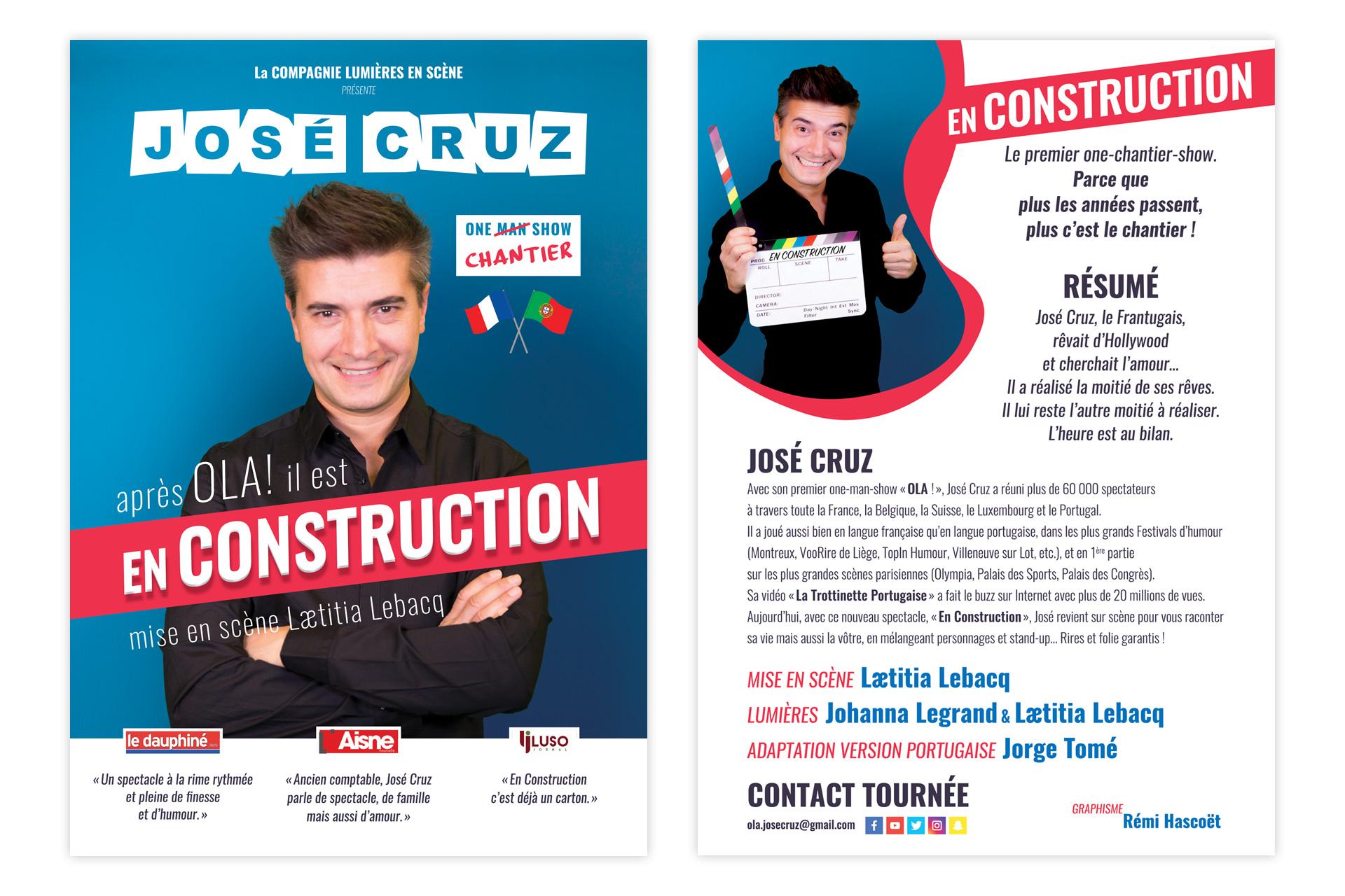 Plaquette du spectacle En construction de José Cruz