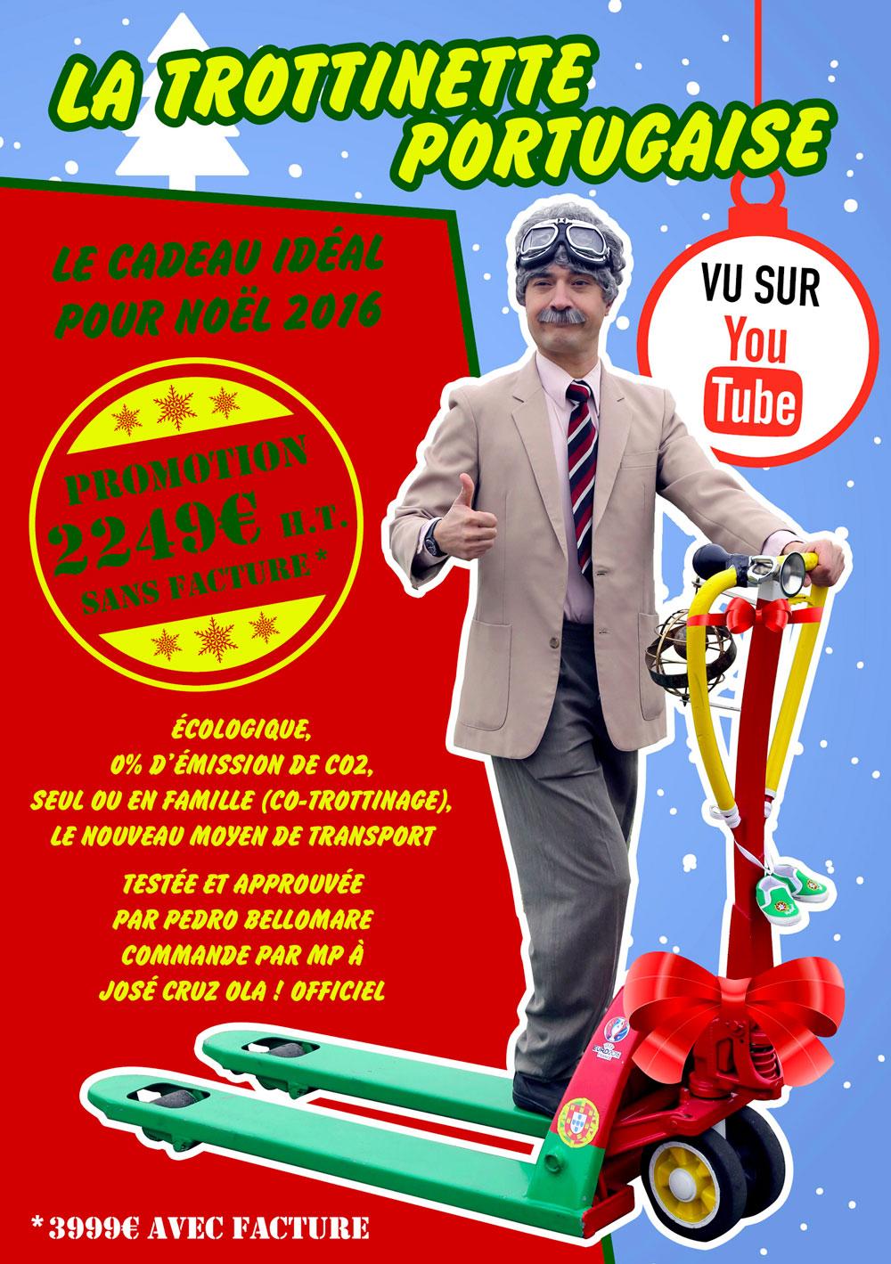 Visuel Youtube José Cruz la trottinette portugaise pour noel