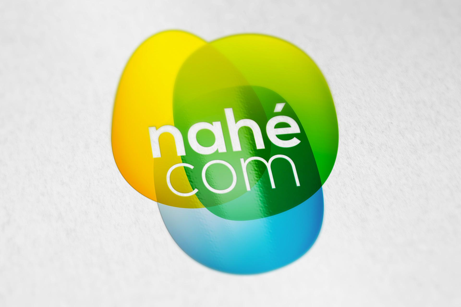 Simulation du logotype de l'agence Nahécom