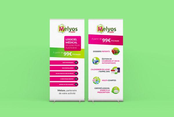 Kakémonos Création de supports PLV pour projet Melyos