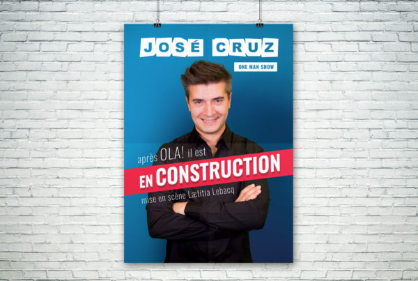 Affiche du spectacle En construction de José Cruz
