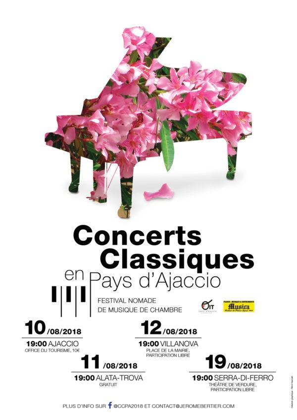 Affiche de concerts classiques en Corse du Sud