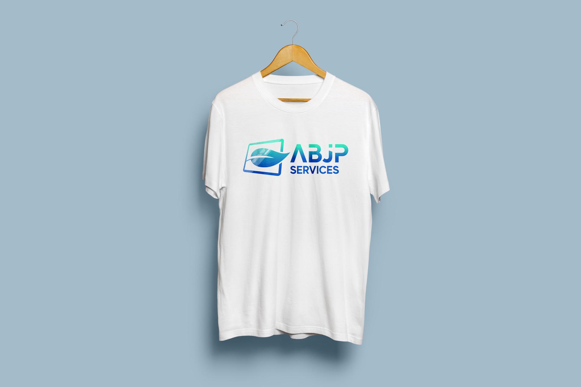 Logo ABJP Services sur t-shirt