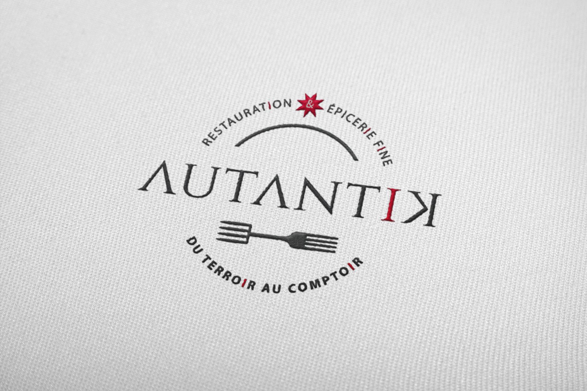 Simulation broderie du logotype Autantik