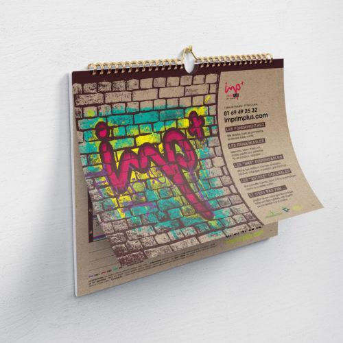 Calendrier conçu pour la société Imprim Plus