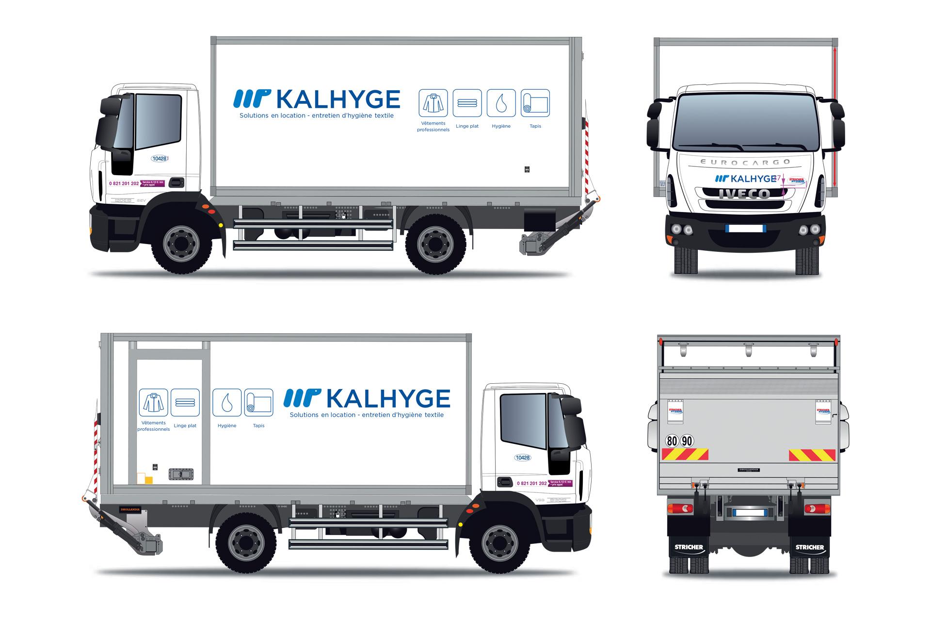 Habillage véhicules de livraison