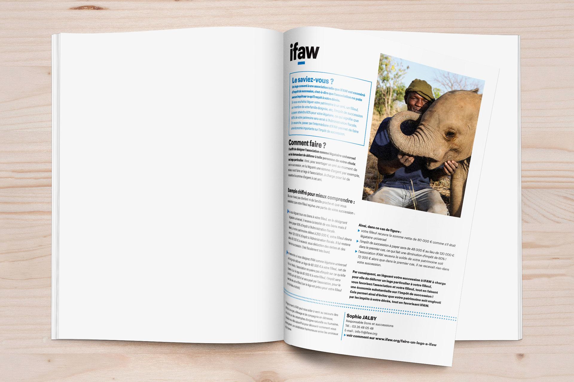 Mise en page d'une publication dans le magazine pleine vie