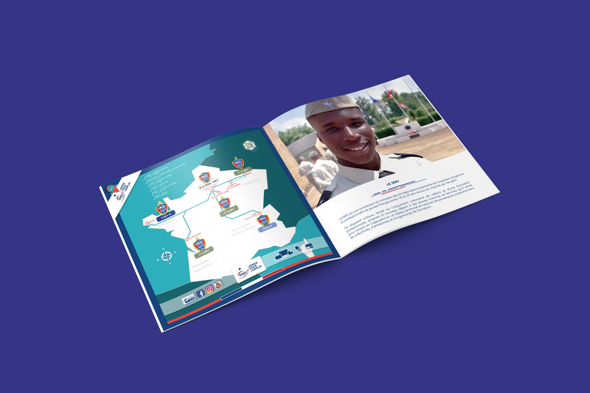 Pages intérieures de la brochure SMV