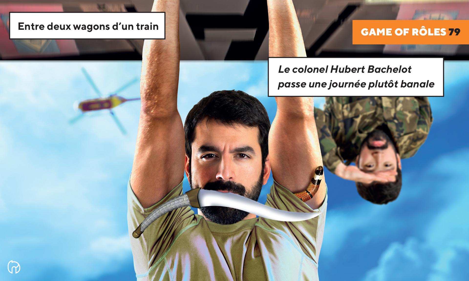 Visuel du colonel Hubert Bachelot dans le train pour game of roles 1979