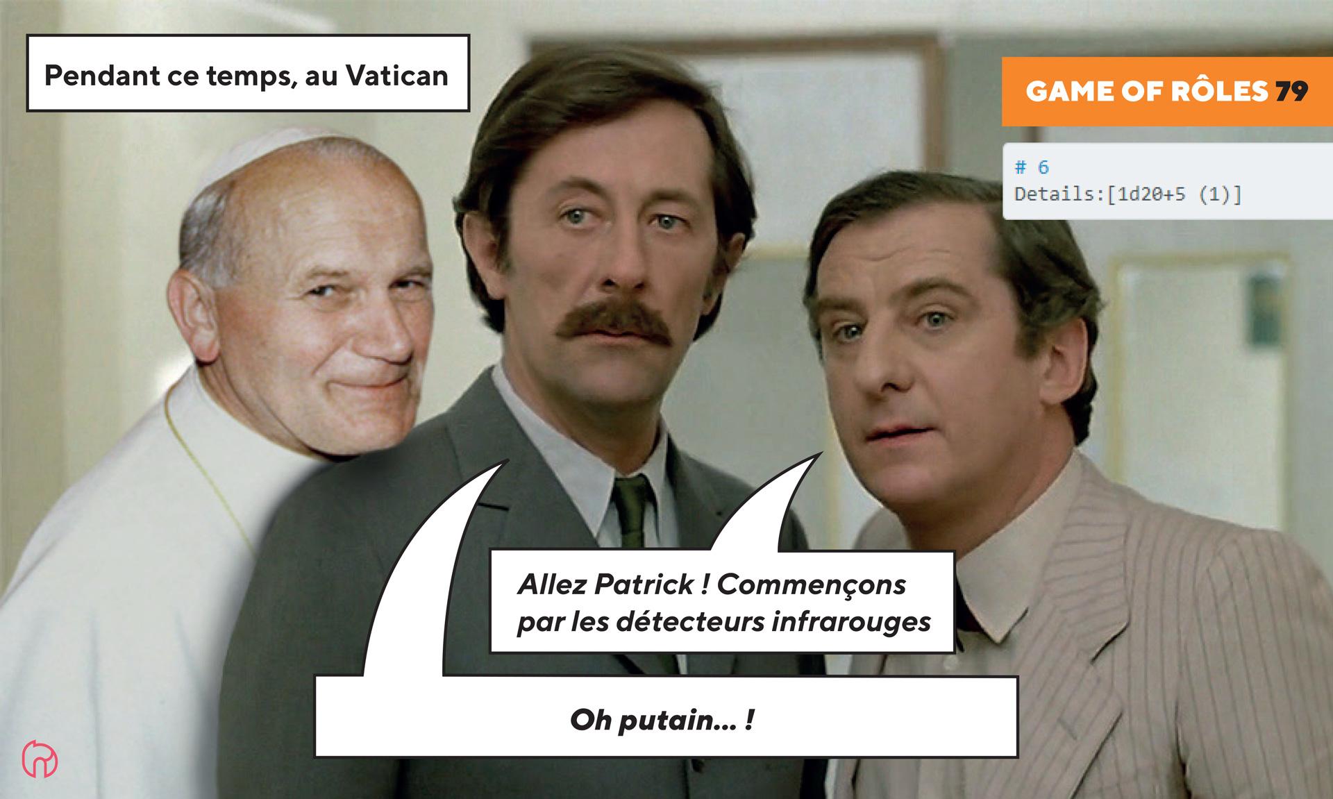 Visuel de Patrick Pintard et Sebastiano Minamiol au Vatican pour game of roles 1979