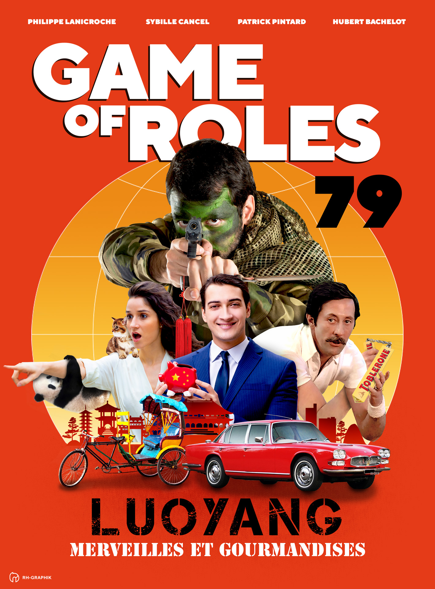 Visuel affiche pour game of roles 1979 à Luo Yang en Chine