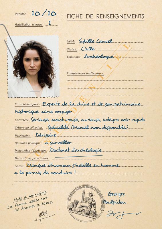 Fiche de personnage Sybille Cancel pour game of roles 1979